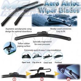 HYUNDAI Accent/Excel/Pony Liftback 1994- Aero frameless wiper blades