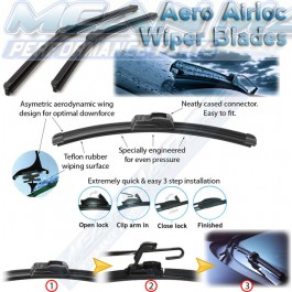 JAGUAR E Type Open,2+2,3.4,3.8 1964-1970 Aero frameless wiper blades