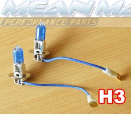 H3 Xenon gas HID look Halogen Light Bulbs
