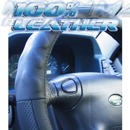 Nissan ALMERA II BLUEBIRD & CHERRY Leather Steering Wheel Cover