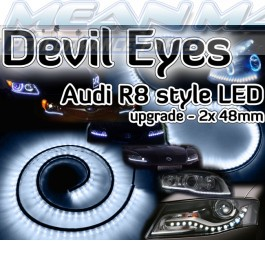 Fiat CINQUECENTO SEICENTO COUPE CROMA Devil Eyes Audi LED lights