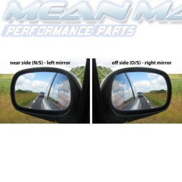 Side / Wing Mirror Glass FORD FIESTA 89-95