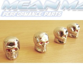 Polished Chrome Skulls Valve Caps