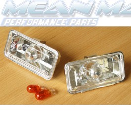 VW Golf 3 mk3 CRYSTAL CHROME SIDE INDICATORS LIGHTS NEW