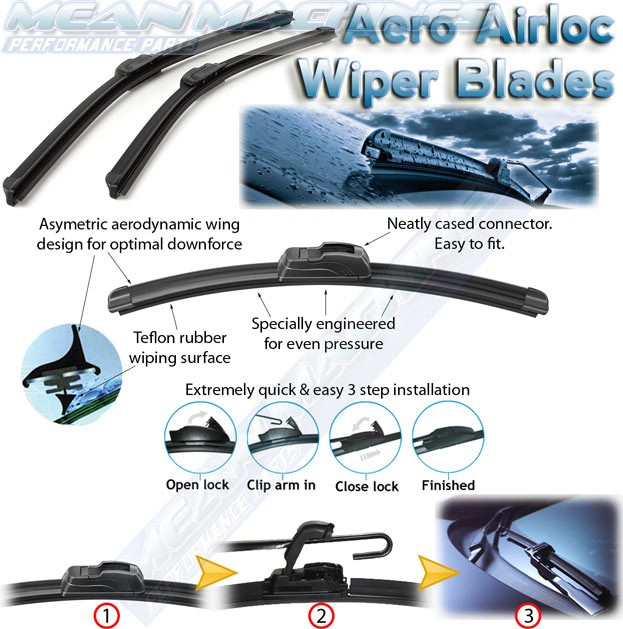 Aero airloc frameless wiper blade 18 45 cm freerunsca Gallery