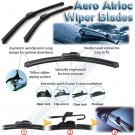 BEDFORD (Vauxhall) Bravo 1989-1990 Aero frameless wiper blades
