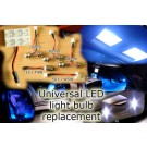 Ford FIESTA FOCUS FUSION GALAXY KA MAVERICK LED light bulb strip