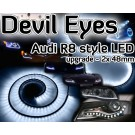 Fiat 126 BARCHETTA BRAVA & BRAVO Devil Eyes Audi LED lights