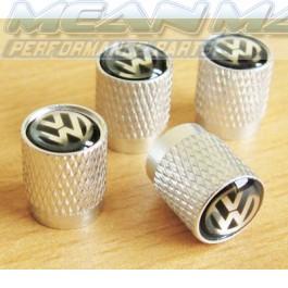 VW (VolksWagen) BORA CADDY CORRADO GOLF LT Aluminium Valve Caps