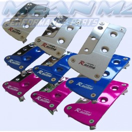 Sports Car Pedals with Chrome Detailing