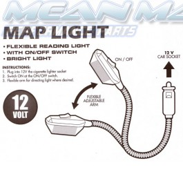 Map reading lamp interior light 12V flexible metal arm