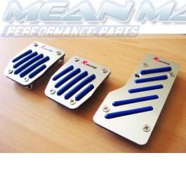 Speedline Series Brushed Aluminium Rubber Treaded Sports Pedals