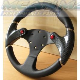 Twin Fire Button NOS Sports Steering Wheel