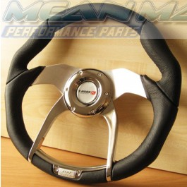 Polished Chrome Detailed Spyder Steering Wheel