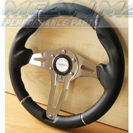 Polished Chrome Detailed Ergonomic Steering Wheel