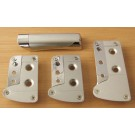 Sports Car Pedals with Chrome Detailing and Handbrake Set