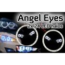 Mercedes Booted Rear C CLASS Angel Eyes light headlight halo