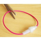 White round In-Line Plastic Car Type Fuse Holder (32 mm Fuse)